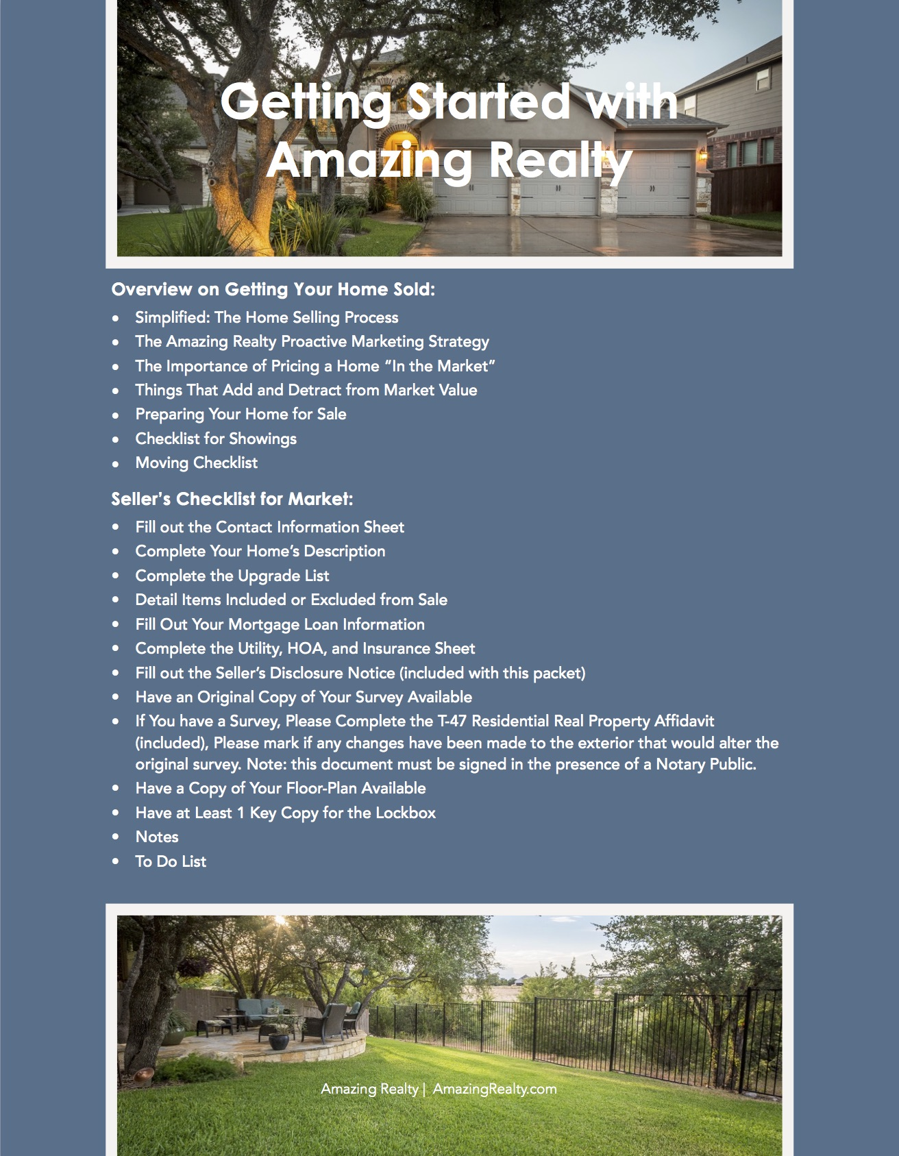 listing package real estate agent operations pre-listing package 1