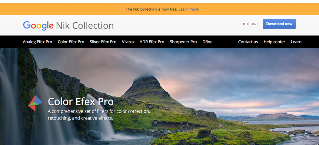 google's nik collection of photography tools