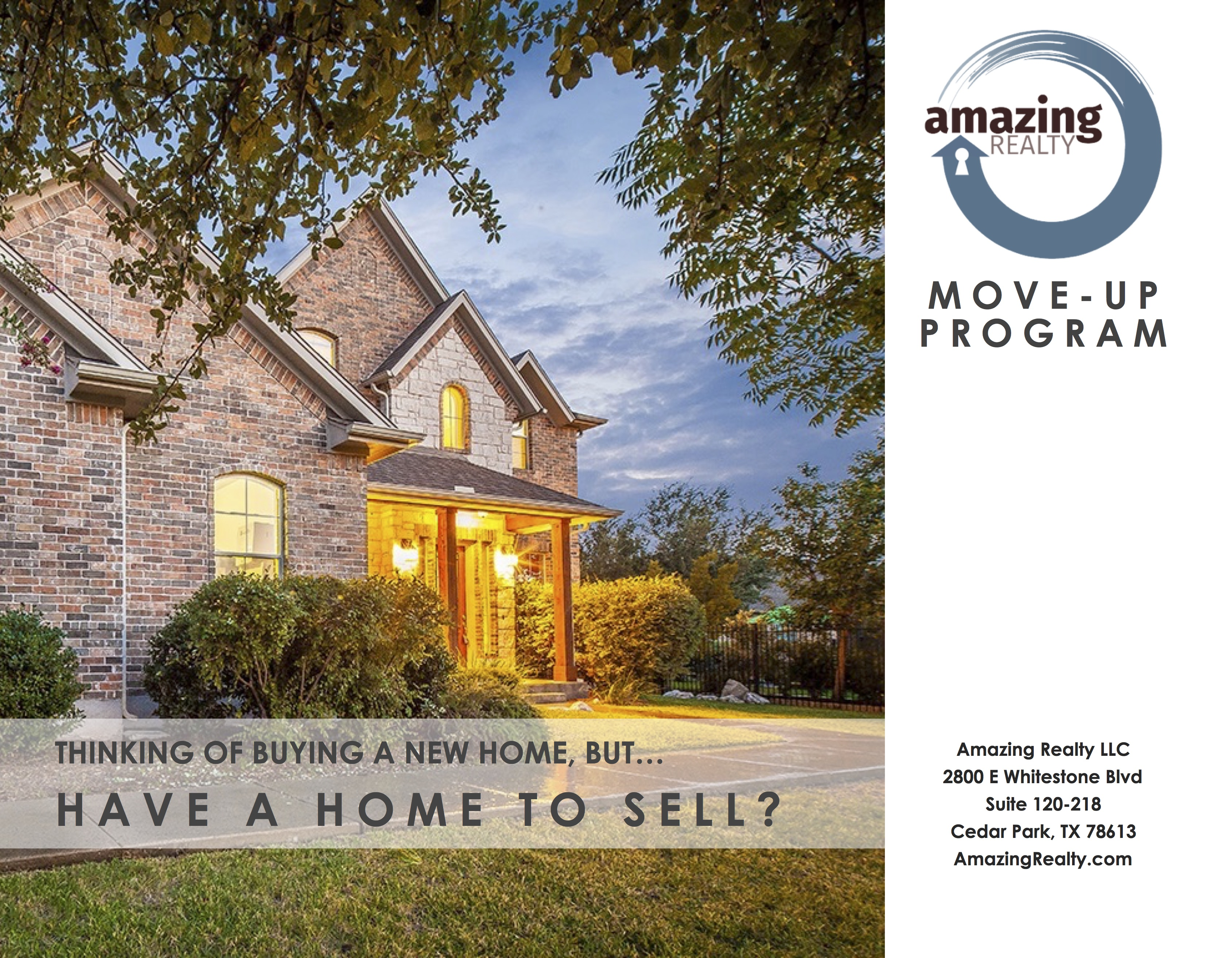 Builder Move-Up Flyer - Amazing Realty by Agent Operations