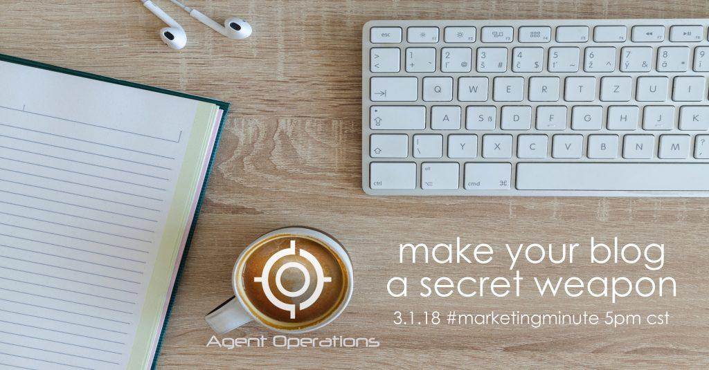 custom blog content real estate marketing agent operations