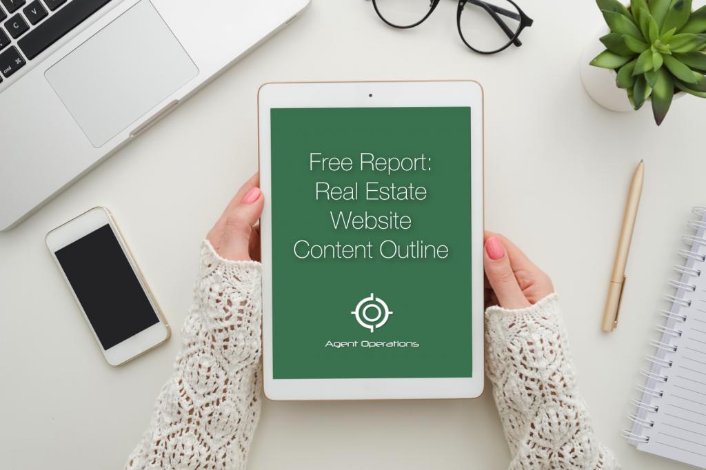 real estate website content outline for realtors lead generation real estate