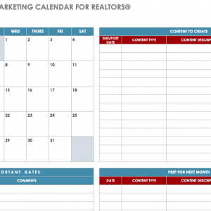 2020 Social Media Marketing Content Calendar for REALTORS, Team Leaders and Real Estate Brokerages - Agent Operations