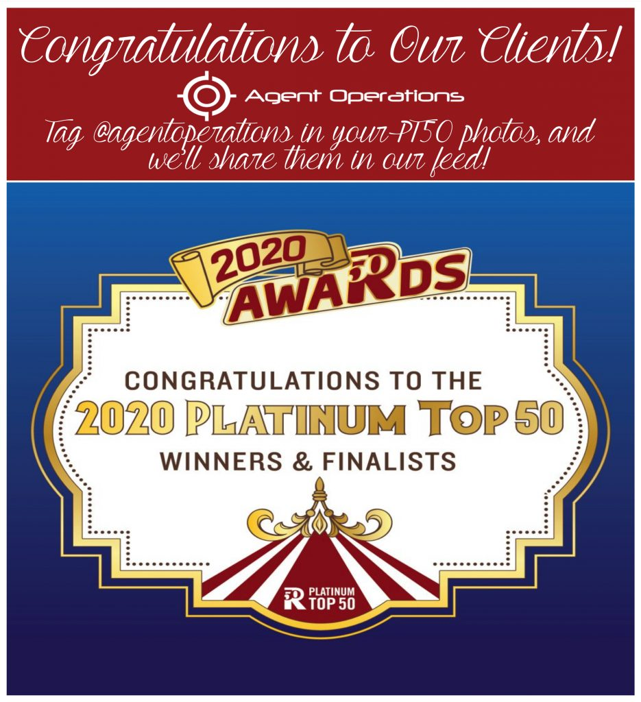 platinum top 50 winners and finalists 2020 Agent Operations