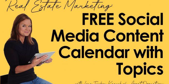 A Done-for-You Social Media Calendar Agent Operations real estate marketing ideas