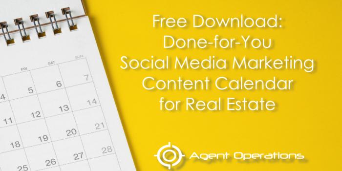 Done-for-You Social Media Marketing Content Calendar for REALTORS®