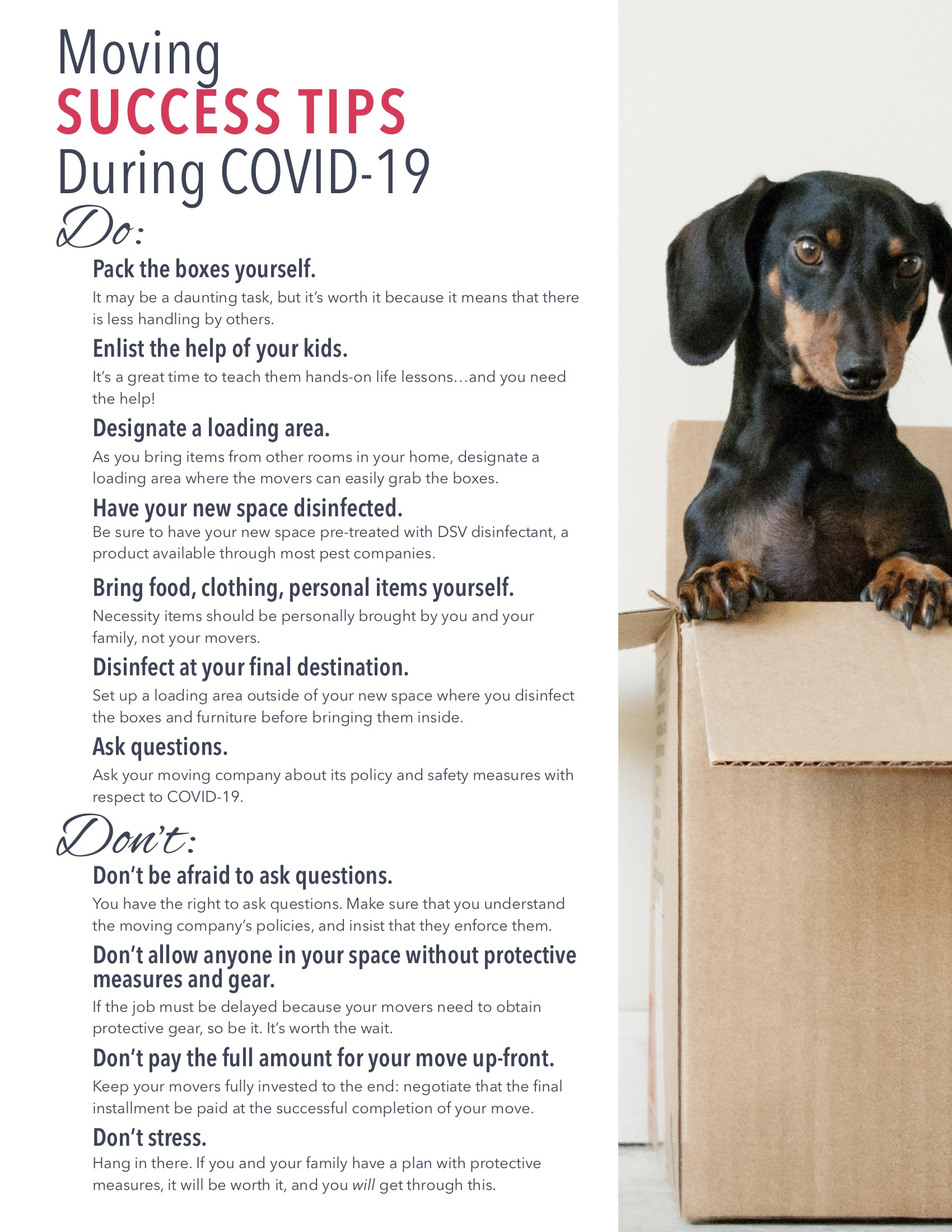 COVID19 moving tips real estate marketing agent operations agent marketing