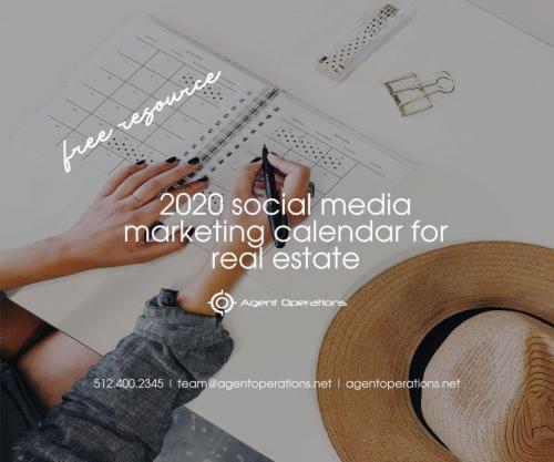 2020 Social Media Marketing Calendar for Real Estate